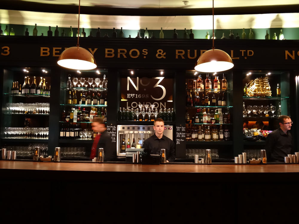 Berry Bros No 3 Bar, London